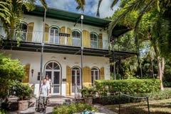 海明威博物馆在基韦斯特岛,佛罗里达 免版税库存图片