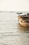 海景和小船在泰国的东部 库存图片