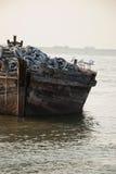 海景和小船在泰国的东部 图库摄影