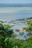 海景和房子泰国的东部的 免版税图库摄影