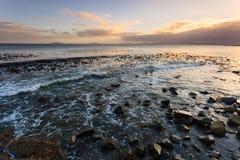 海景和波浪在南非 免版税库存照片