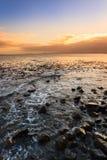 海景和波浪在开普敦 免版税库存图片