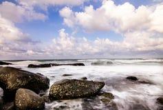 海景和波浪,自然 图库摄影