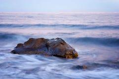 海景在克里米亚,乌克兰 长期风险 免版税库存照片