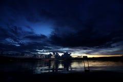 海景在印度尼西亚 库存照片