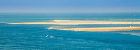 海景在吉伦特省 免版税库存图片