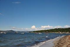 海景在圣特罗佩 库存图片