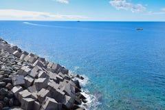 海景在大加那利岛 免版税库存照片