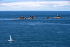 海景在康沃尔郡,南西部英国 免版税图库摄影