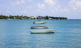 海景在盛大白鹅,毛里求斯 免版税库存照片