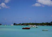 海景在盛大白鹅,毛里求斯 图库摄影