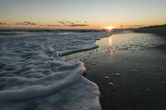 海景在罗德岛州 库存照片