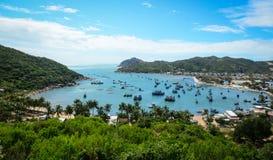 海景在藩朗,越南 免版税库存照片