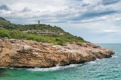 海景在西班牙 库存照片