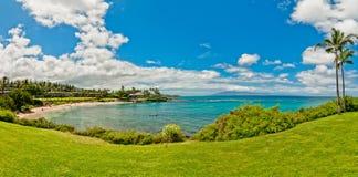海景在西部毛伊Kaanapali海滩胜地区域。 库存图片