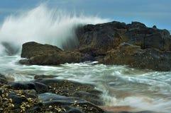 海景在Amanzimtoti,新生的夸祖鲁,南非 免版税库存照片