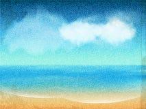 海景帆布 免版税库存图片