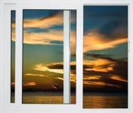 海景窗口加勒比多米尼加共和国 库存照片
