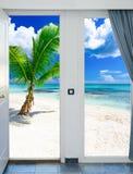海景窗口加勒比多米尼加共和国 免版税库存图片