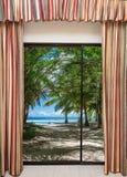 海景窗口 库存图片