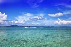 海景绿松石水 免版税图库摄影