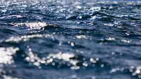 海景蓝色海表面 背景彩色插图模式无缝的向量水 免版税库存照片