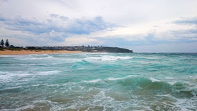 海景@卷毛卷毛海滩, NSW澳大利亚 库存照片