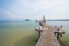 海景 在水的平房 免版税库存照片