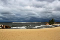 海景 沙滩 免版税库存图片