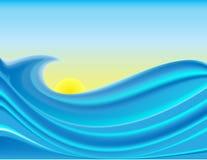 海景 向量例证