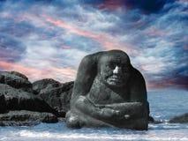 海残暴的人 库存图片