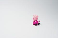 海氏,乌克兰- 2017年8月10日:一个主要字符的塑料玩具 库存图片