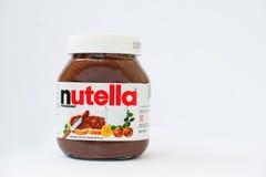 海氏,乌克兰2017年3月-14 :Nutella巧克力榛子flavoure 免版税库存照片