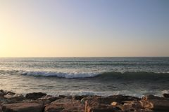 海水和天空 库存图片