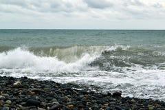 海水照片的强有力的波浪 库存图片