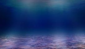 海水的深度,神色通过海的深度 库存图片