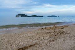海沙和海滩 免版税库存照片