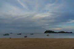 海沙和海滩 图库摄影