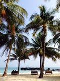 海沙太阳,对的愉快的夏天旅行 免版税库存照片