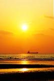 海沙太阳 免版税库存照片