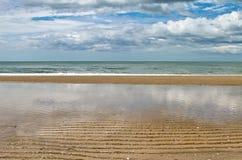 海沙海滩 库存图片