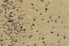 海沙石头背景纹理  库存图片