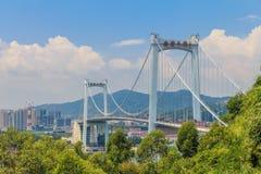 海沧桥梁在厦门中国与城市连接厦门海岛 免版税库存照片