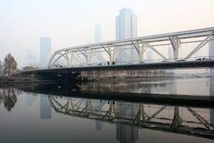 海河桥梁 库存照片