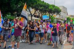 海法第11骄傲游行, 2017年 免版税图库摄影