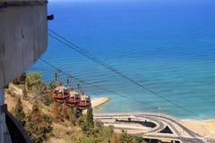 海法缆车,以色列 库存图片