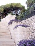 海法Bahai庭院石楼梯2003年 免版税图库摄影