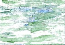 海泡沫绿色摘要水彩背景 免版税库存图片