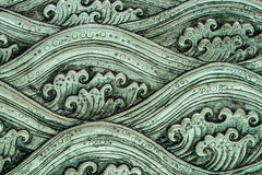 海波动图式艺术 免版税库存图片