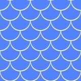 海波向量无缝的样式 免版税库存图片